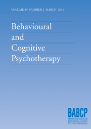 Behavioural and Cognitive Psychotherapy Volume 32 - Issue 2 -
