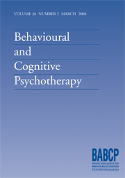 Behavioural and Cognitive Psychotherapy Volume 36 - Issue 2 -