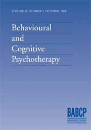 Behavioural and Cognitive Psychotherapy Volume 36 - Issue 5 -