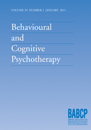 Behavioural and Cognitive Psychotherapy Volume 39 - Issue 1 -