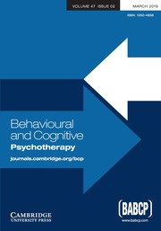 Behavioural and Cognitive Psychotherapy Volume 47 - Issue 2 -