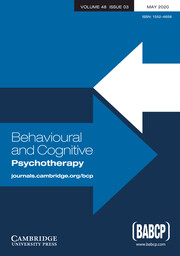Behavioural and Cognitive Psychotherapy Volume 48 - Issue 3 -