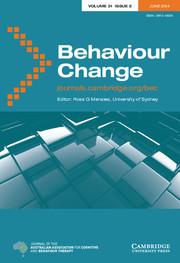 Behaviour Change Volume 31 - Issue 2 -