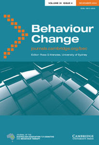 Behaviour Change Volume 31 - Issue 4 -