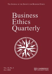 Business Ethics Quarterly