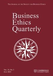 Business Ethics Quarterly
