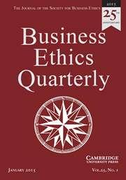 Business Ethics Quarterly Volume 25 - Issue 1 -