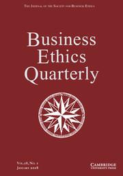 Business Ethics Quarterly Volume 28 - Issue 1 -