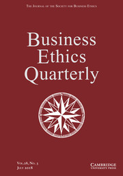 Business Ethics Quarterly Volume 28 - Issue 3 -