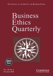 Business Ethics Quarterly Volume 30 - Issue 4 -