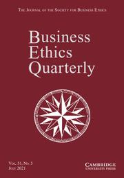 Business Ethics Quarterly Volume 31 - Issue 3 -