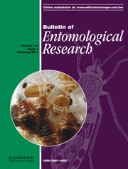 Bulletin of Entomological Research Volume 101 - Issue 1 -