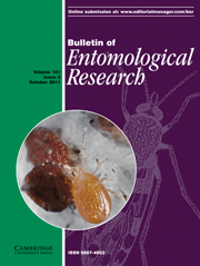Bulletin of Entomological Research Volume 101 - Issue 5 -