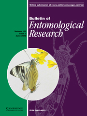 Bulletin of Entomological Research Volume 102 - Issue 3 -