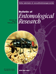 Bulletin of Entomological Research Volume 103 - Issue 1 -