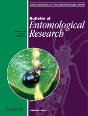 Bulletin of Entomological Research Volume 104 - Issue 2 -