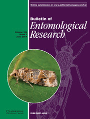 Bulletin of Entomological Research Volume 104 - Issue 3 -