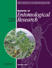 Bulletin of Entomological Research Volume 105 - Issue 5 -