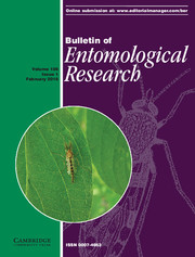 Bulletin of Entomological Research Volume 106 - Issue 1 -