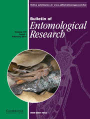 Bulletin of Entomological Research Volume 107 - Issue 1 -