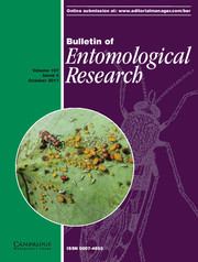 Bulletin of Entomological Research Volume 107 - Issue 5 -