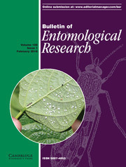 Bulletin of Entomological Research Volume 108 - Issue 1 -