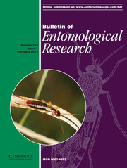 Bulletin of Entomological Research Volume 109 - Issue 1 -