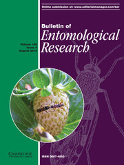 Bulletin of Entomological Research Volume 109 - Issue 4 -
