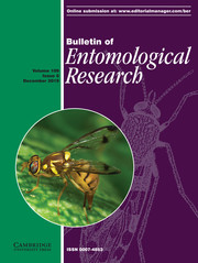 Bulletin of Entomological Research Volume 109 - Issue 6 -