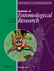 Bulletin of Entomological Research Volume 110 - Issue 1 -