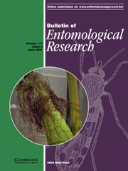 Bulletin of Entomological Research Volume 111 - Issue 3 -