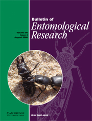 Bulletin of Entomological Research Volume 98 - Issue 4 -