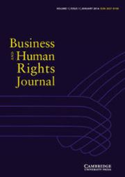 Business and Human Rights Journal Volume 1 - Issue 1 -