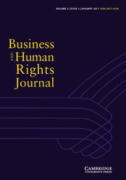 Business and Human Rights Journal Volume 2 - Issue 1 -