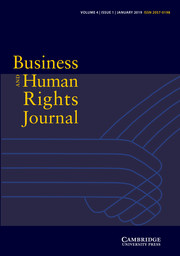 Business and Human Rights Journal Volume 4 - Issue 1 -