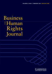Business and Human Rights Journal Volume 6 - Issue 1 -