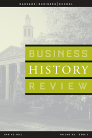 Business History Review Volume 85 - Issue 1 -