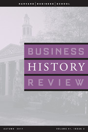 Business History Review Volume 91 - Issue 3 -  A Special Issue on Methodologies