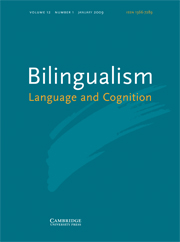 Bilingualism: Language and Cognition Volume 12 - Issue 1 -