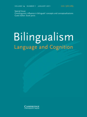 Bilingualism: Language and Cognition Volume 14 - Issue 1 -  Crosslinguistic influence in bilinguals' concepts and conceptualizations