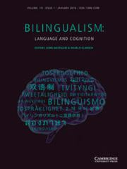 Bilingualism: Language and Cognition Volume 19 - Issue 1 -