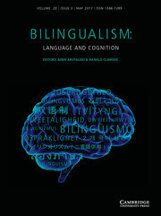 Bilingualism: Language and Cognition Volume 20 - Issue 3 -