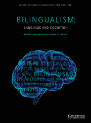 Bilingualism: Language and Cognition Volume 20 - Issue 4 -