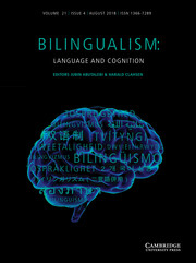 Bilingualism: Language and Cognition Volume 21 - Special Issue4 -  Recent developments in child bilingualism: Cross-linguistic influence, incomplete acquisition, critical periods and the advantages of bilingualism