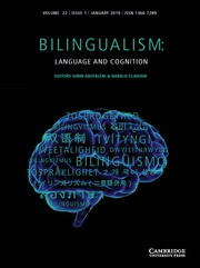 Bilingualism: Language and Cognition Volume 22 - Issue 1 -