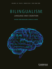 Bilingualism: Language and Cognition Volume 24 - Issue 2 -