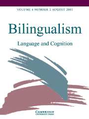 Bilingualism: Language and Cognition Volume 6 - Issue 2 -