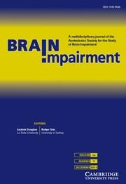Brain Impairment Volume 14 - Issue 3 -