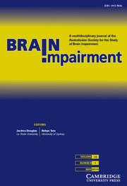 Brain Impairment Volume 15 - Issue 1 -