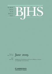 The British Journal for the History of Science Volume 42 - Issue 2 -